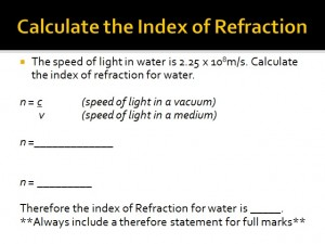 Lesson 7 Refraction Part 2 3