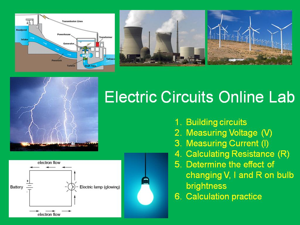 Electric Circuits Online Lab - Teach With Fergy