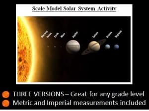Solar System Model Activity 1